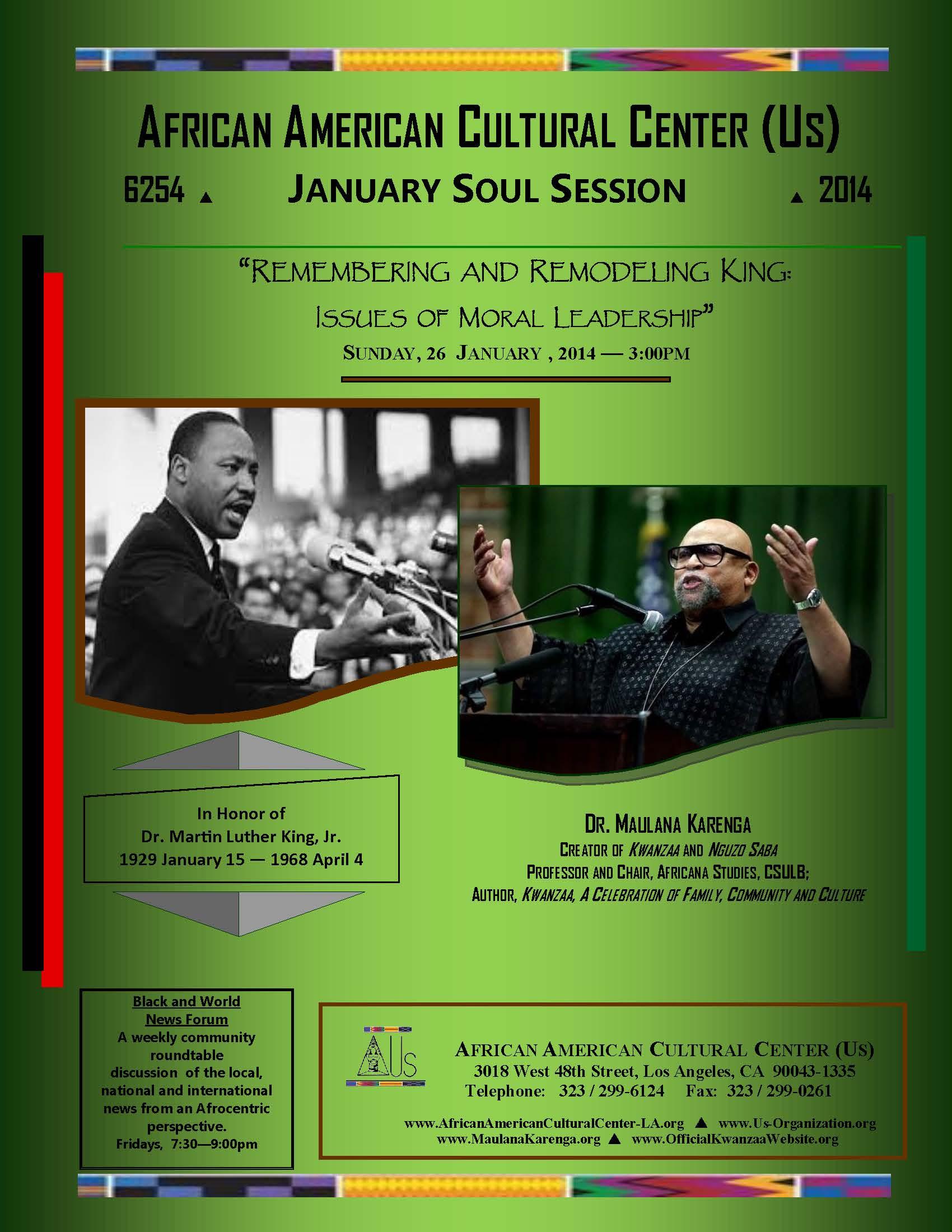 01-26-14 Dr. Maulana Karenga--MLKing