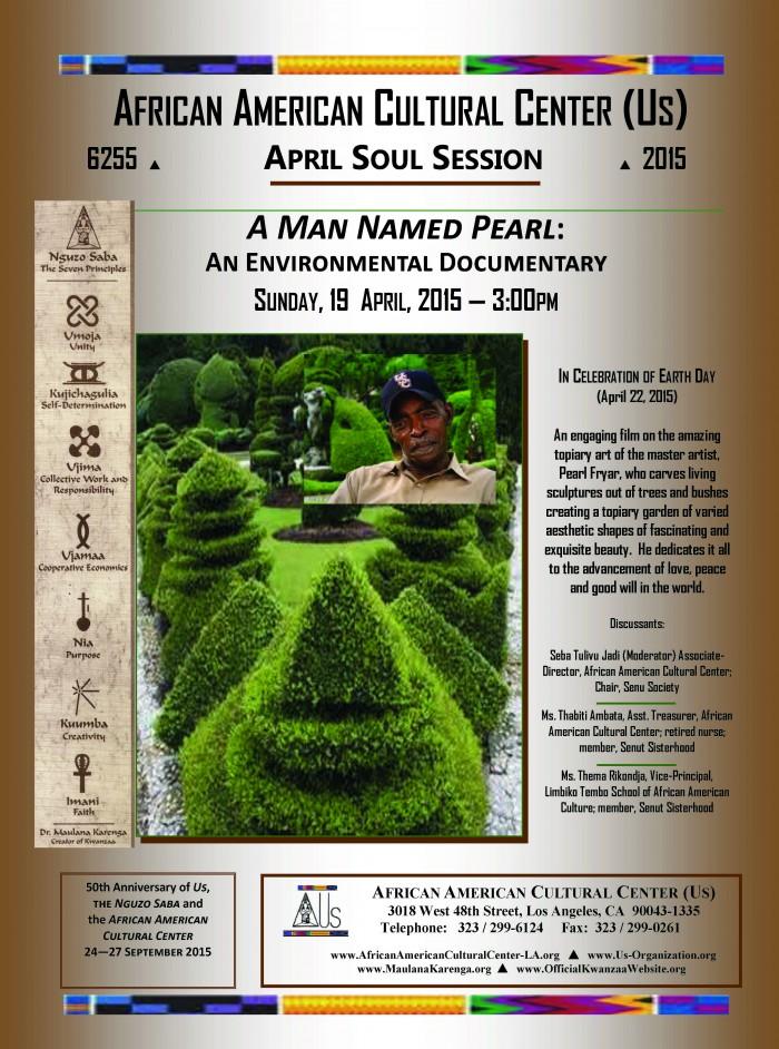 04-19-15 A Man Named Pearl--An Environmental Documentary