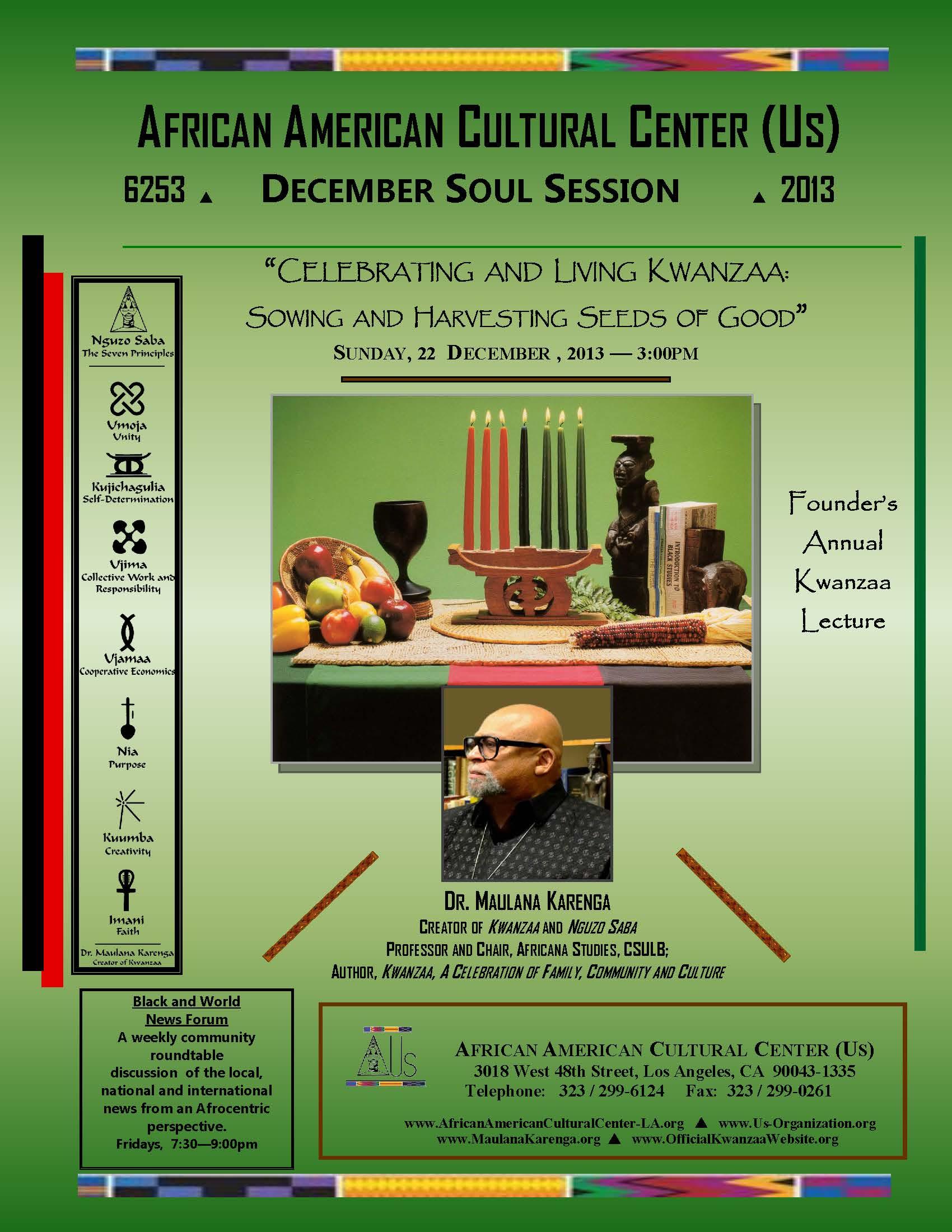 12-22-23 Dr. Maulana Karenga--Kwanzaa