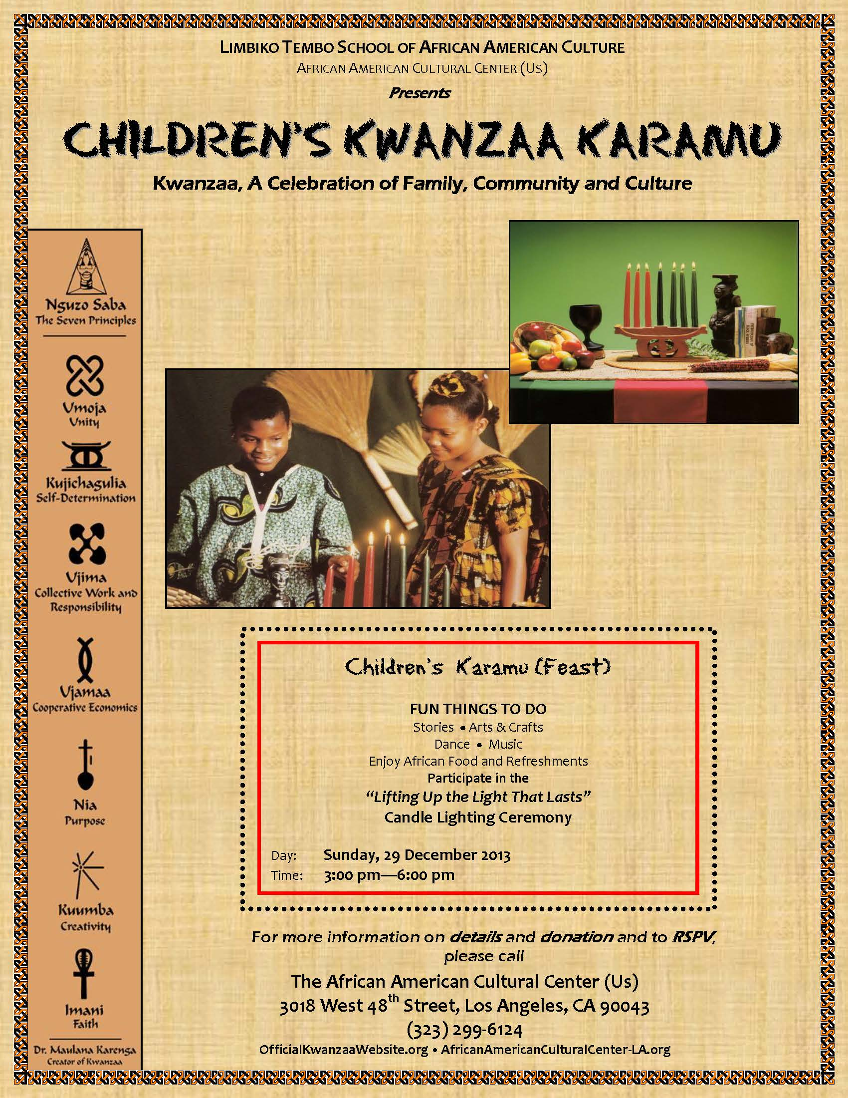 Children's Kwanzaa Karamu Flier v3 12-19-13