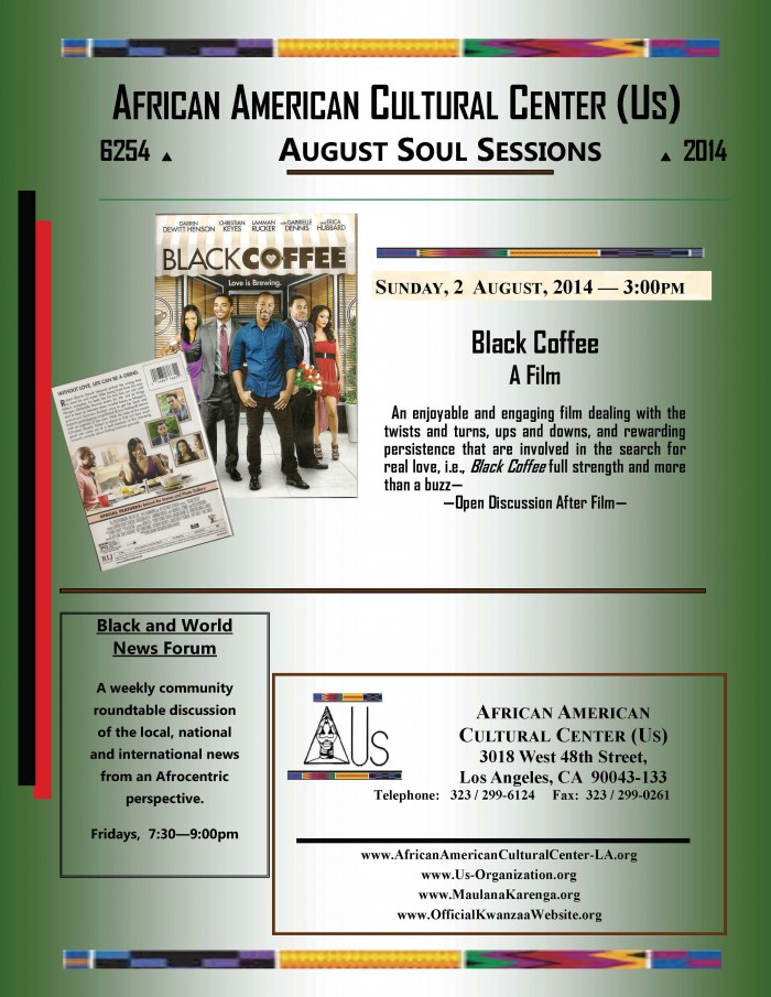 Soul Session--August 2 2014 Film Black Coffee