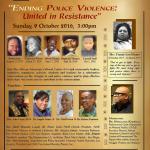 Soul Session–Ending Police Violence-United in Resisance 10-09-16