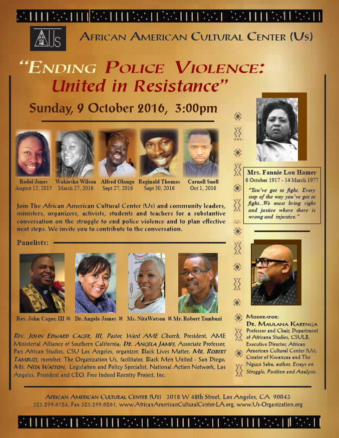 Soul Session--Ending Police Violence-United in Resisance 10-09-16